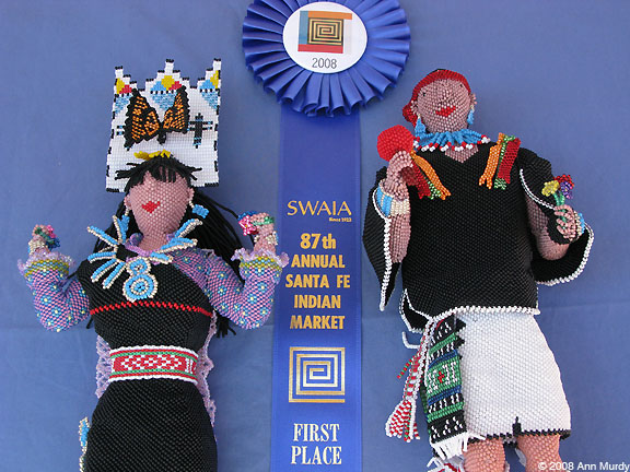 Zuni beaded dolls by Farlen & Alesia Quetawki