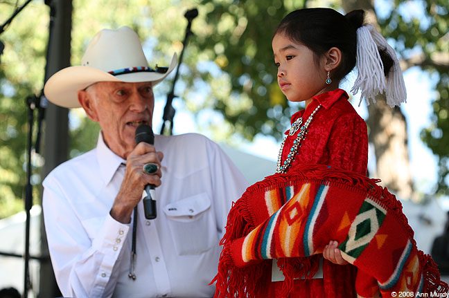 Rex Arrowsmith with Navajo girl