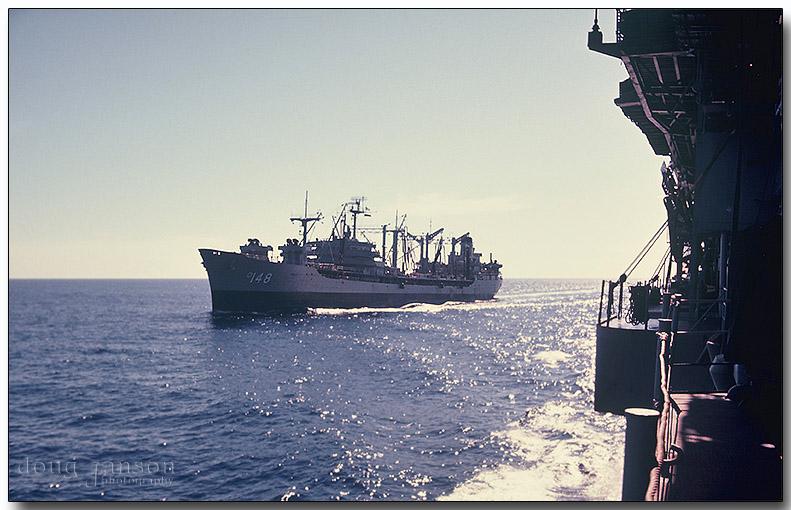 USS Ponchatoula (AO-148) pulling alongside