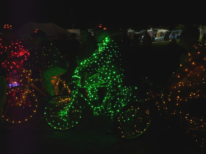 The Amazing Illuminated Bikes