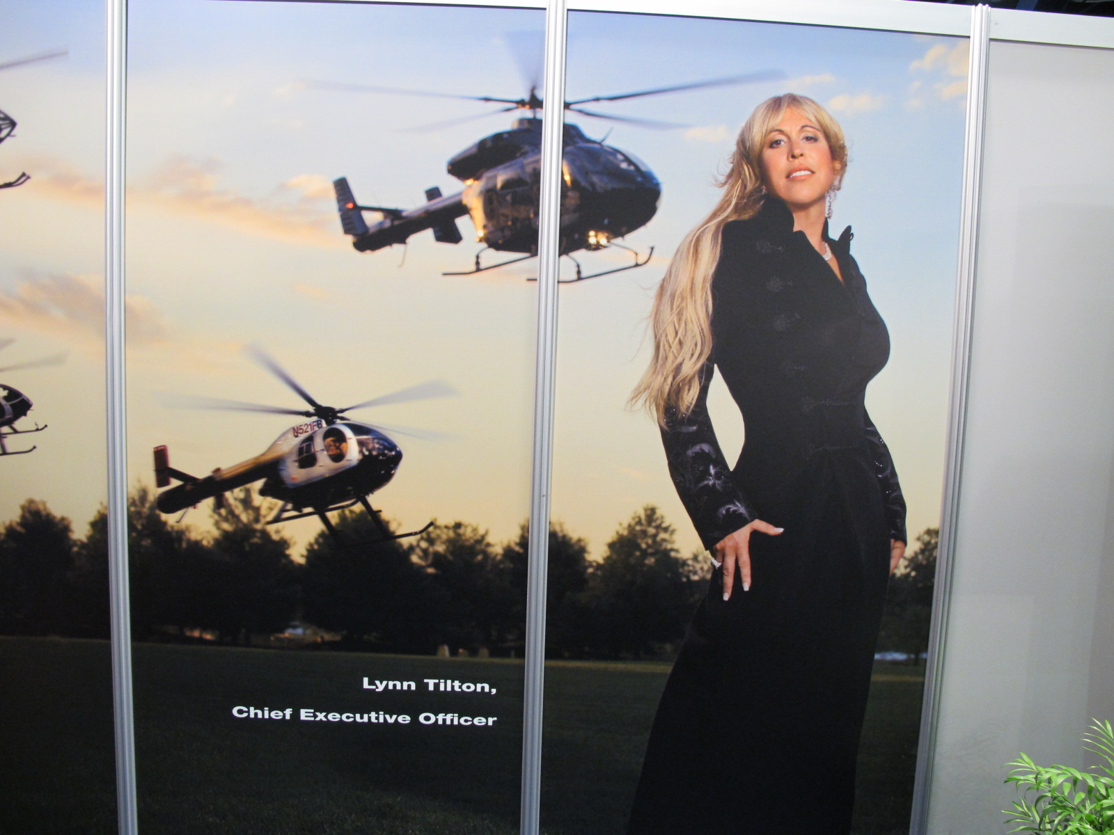 Wall poster, Lynn Tilton, CEO MD Helicopters