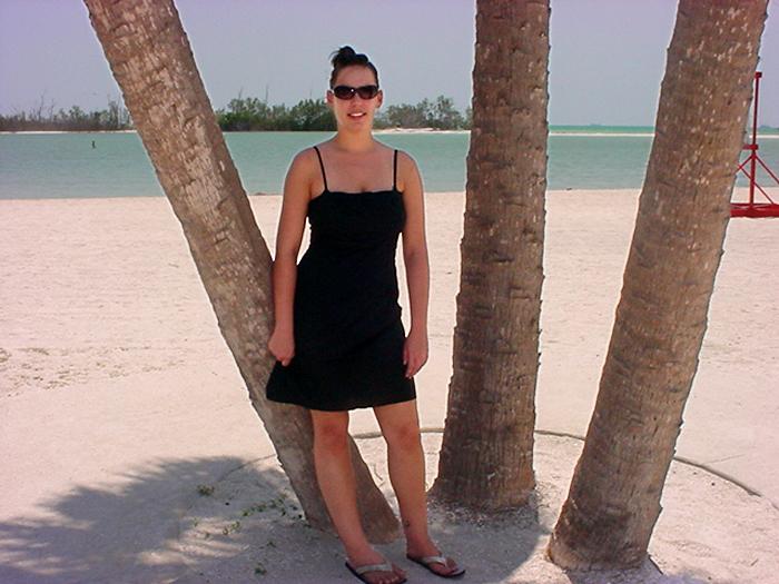 Laura on NorthBeach Ft. Desoto Island Summer 06