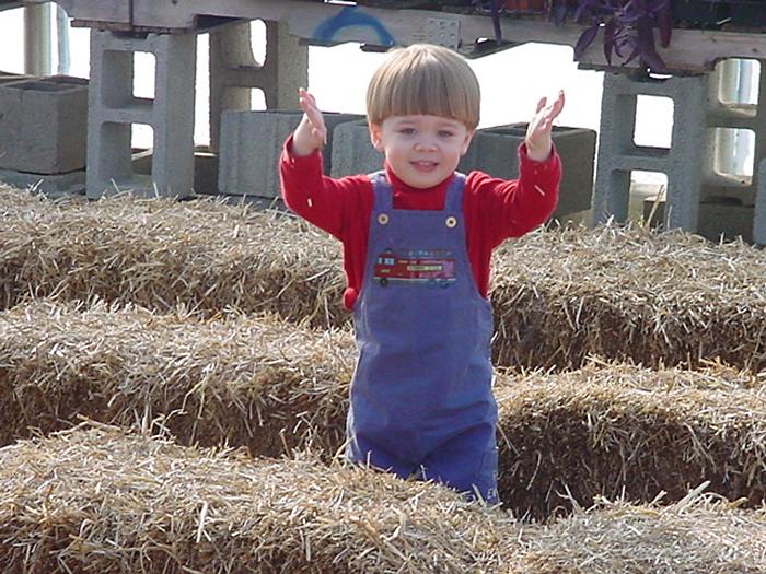 Owen at Schmidt Farms Fall 06