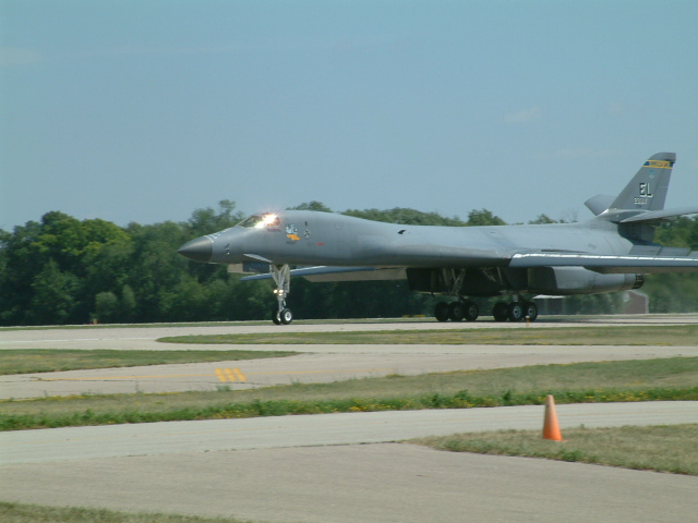 B1B Lancer rollout at Oshkosh 06