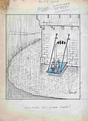 Image of original cartoon courtesy of J.M. Bertin