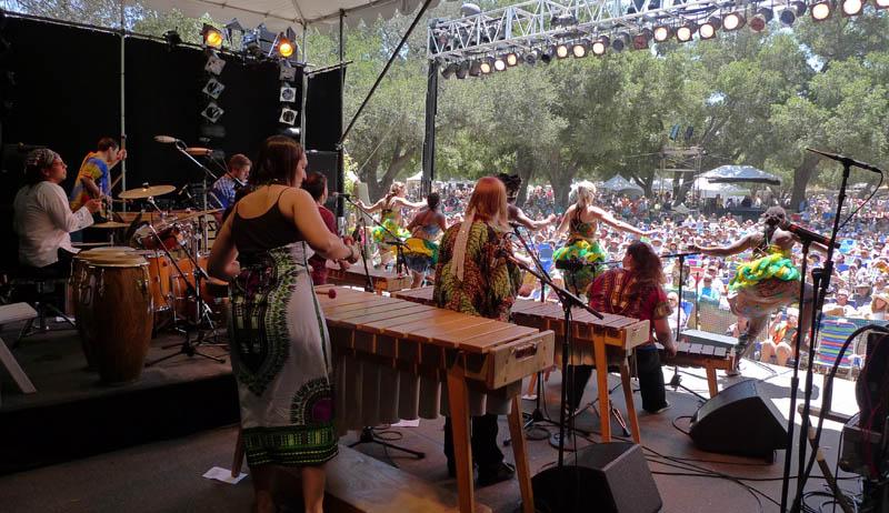 Marimbas and dancers everywhere