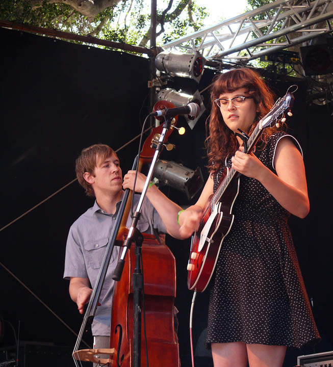 Sallie Ford, with Tyler Tornfelt on upright bass