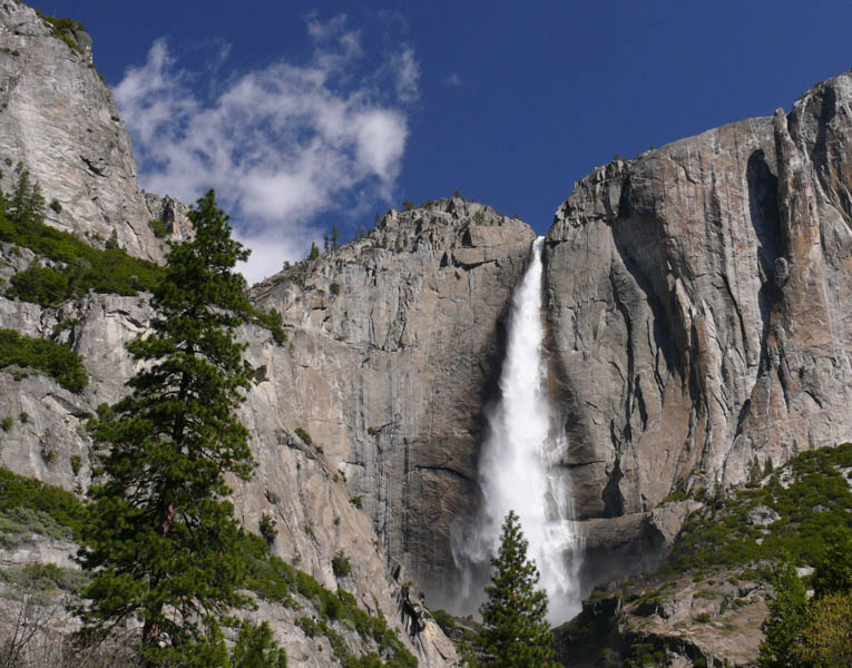 A classic Yosemite Falls view on a spring day