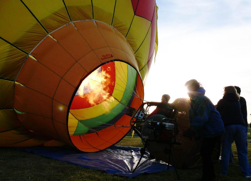 Sunrise balloonrise