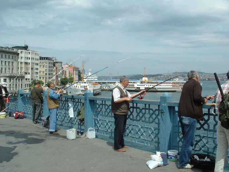 Fishing on the Galeta Bridge