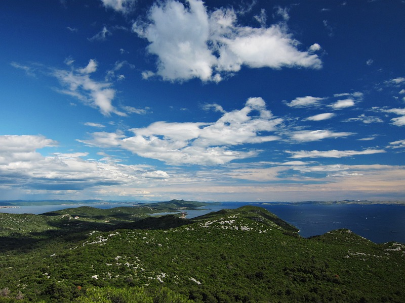 View of Ugljan Island from St Micheals Fortress