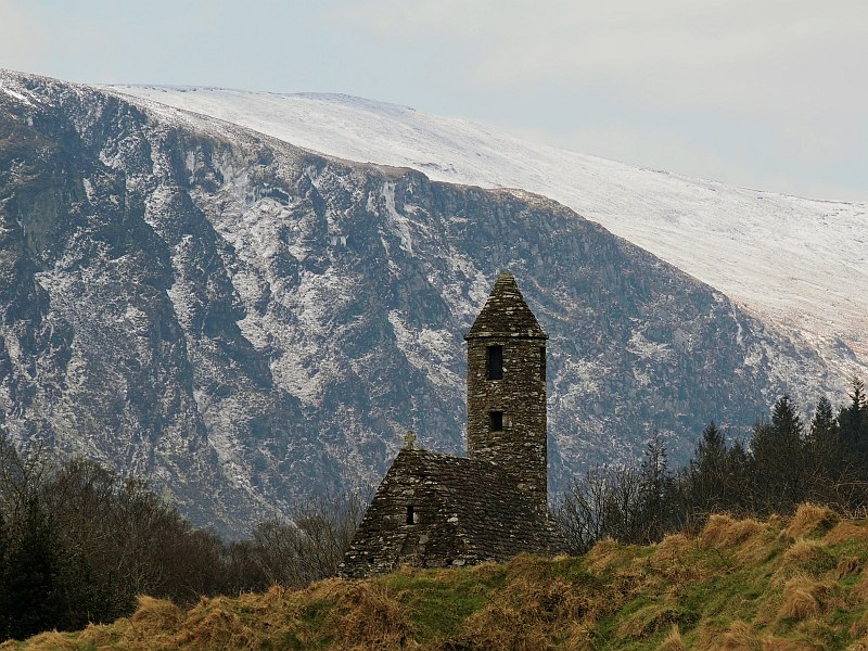 Glendalough - St Kevins Kitchen - winter