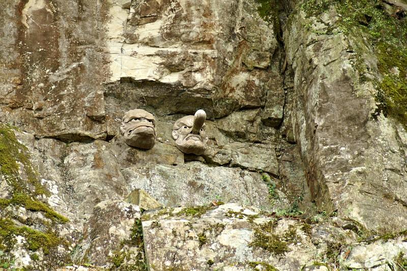 Rock faces, Kompira-San, Kotohira