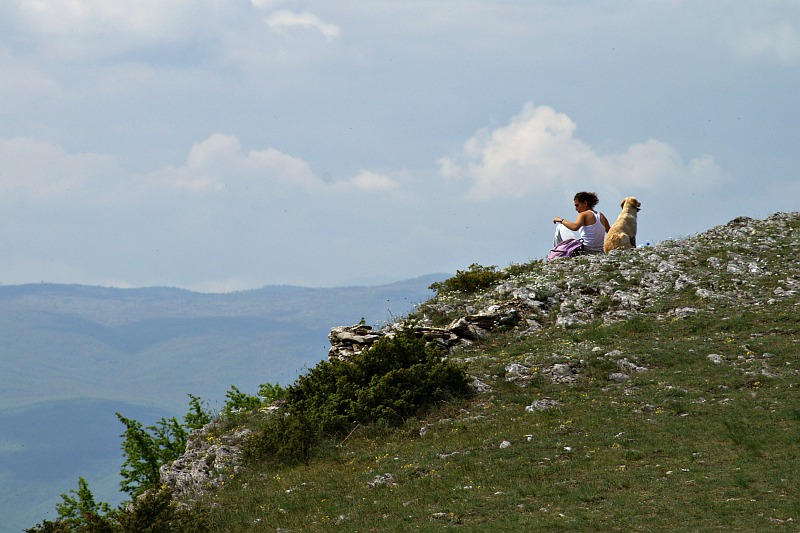 At the summit of Vodno