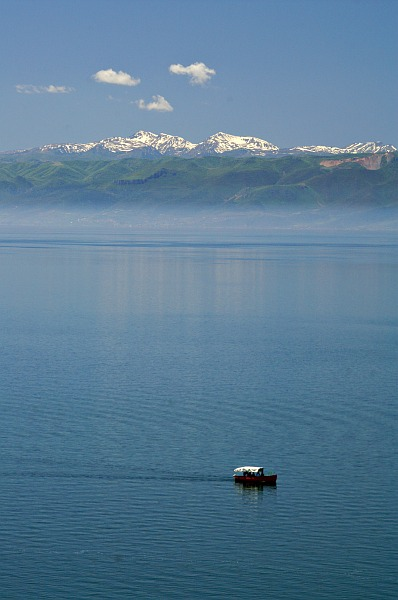 Lake Ohrid - view towards the Albanian shore