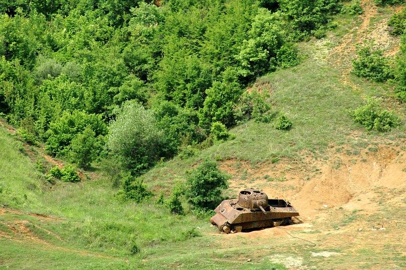 Old tank near Bitola