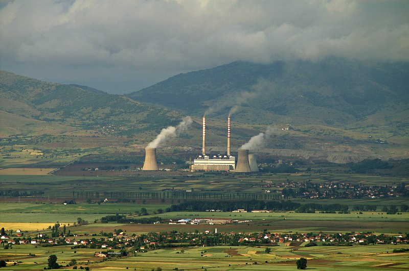 Power station south of Bitola