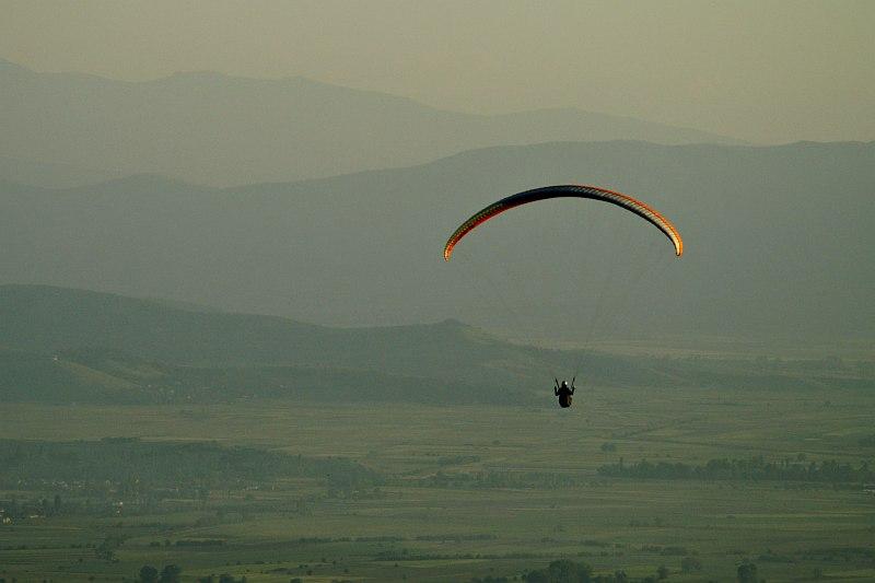 Paraglider at Markovi Kuli, Prilep