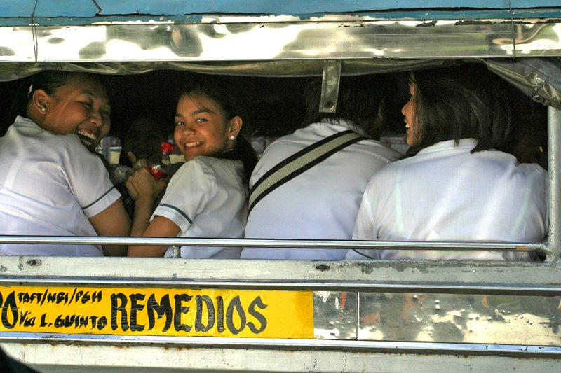 College girls in a jeepney