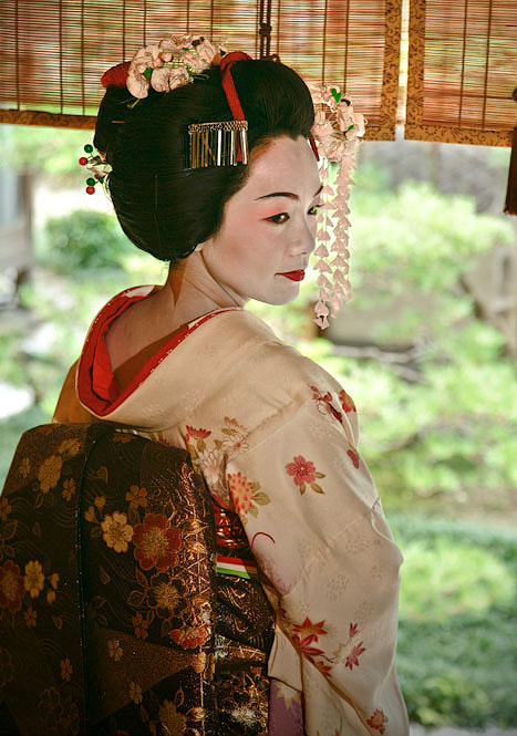 Dressed as a maiko