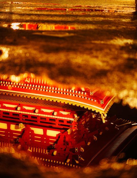 Asakusa temple reflection