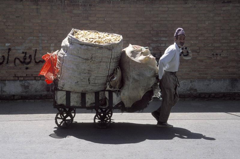 Man and Kart - Tehran Iran