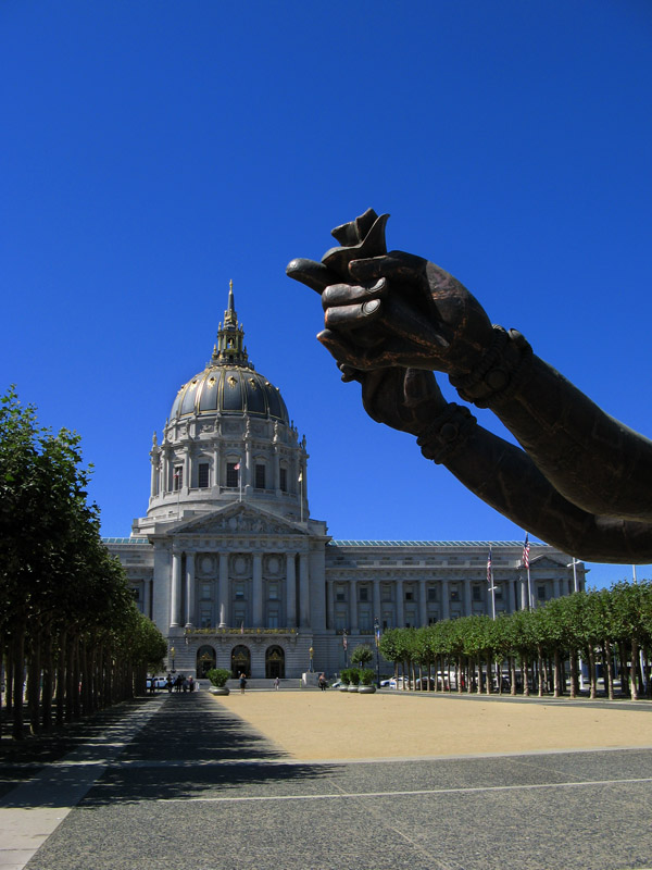 San Francisco City Hall and Buddhas Hands<br />1947