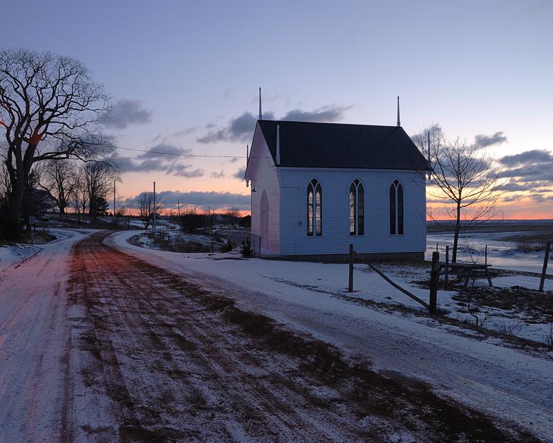 Evangaline church in winter