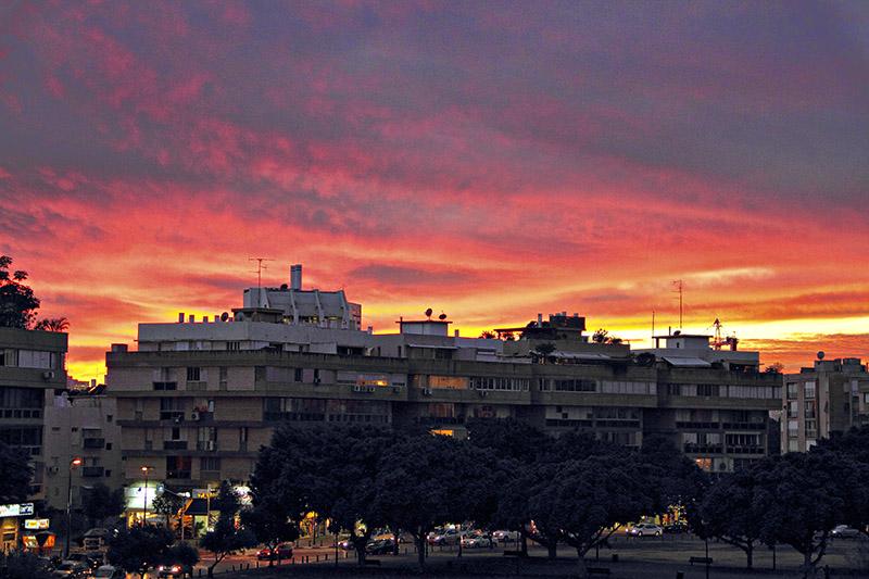 Winter Sunset in Kikar Hamedina.jpg