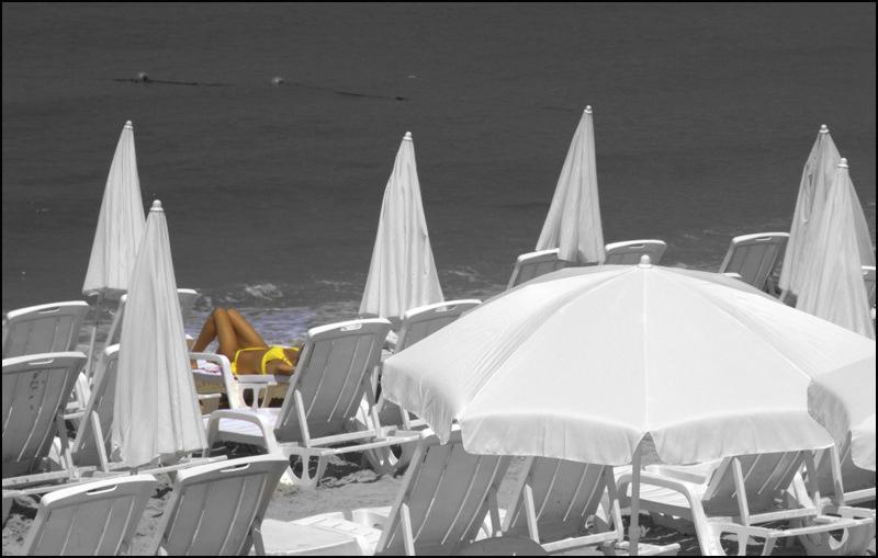 Sun-Tanning on Tel Aviv Beach