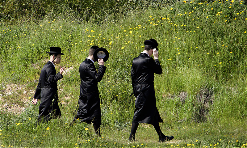 Yeshiva Students take a walk on Shabbat in Ashdod