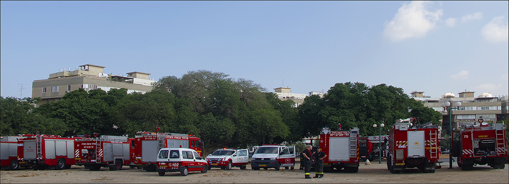 Firefighters Conference in my park this morning