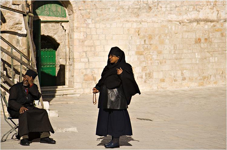 Two caretakers of the Ethiopian Church