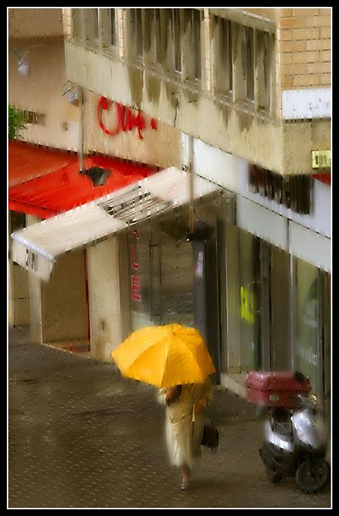 Rainy Day in Kikar Hamedina