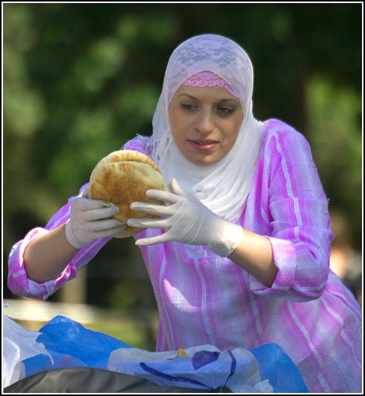 An Arab Mother at a Picnic