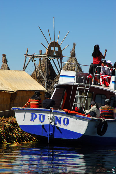 Tourist launch from Puno