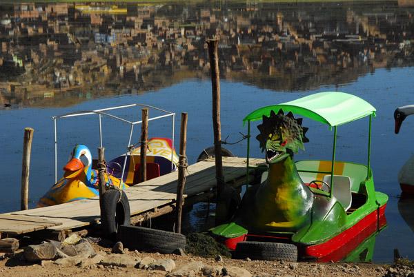 Kiddie peddle boats, Lake Titicaca