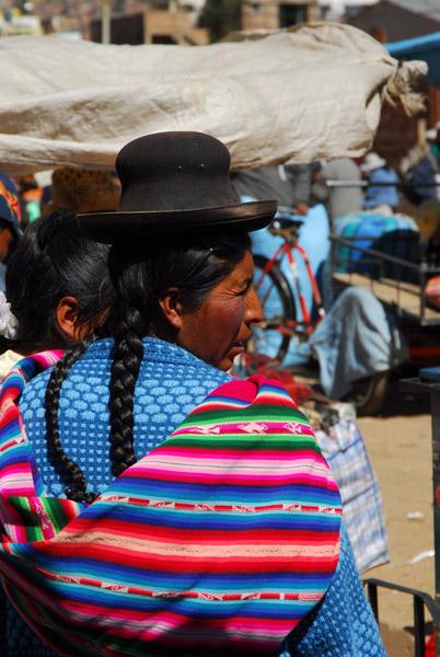 Typical indigenous Peruvian highland woman