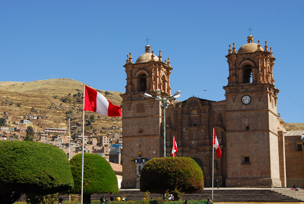 Cathedral, completed in 1757, Plaza de Armas, Puno