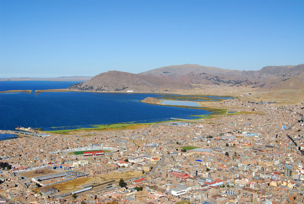 View of Puno from the top of Cerro Asogini