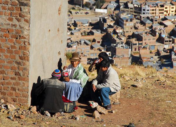 Locals having a picnic on Cerro Asogini