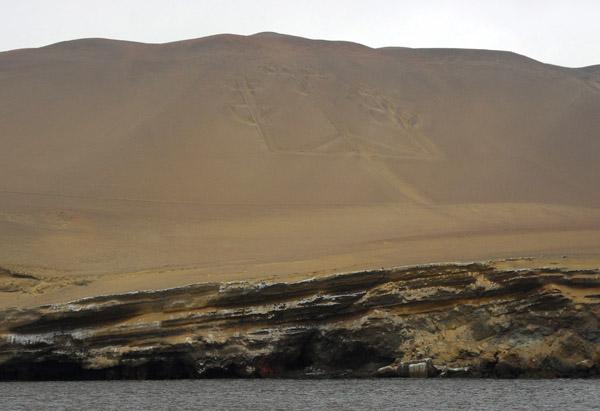 The Candelabra - a pre-hispanic geoglyph similar to the Nazca Lines