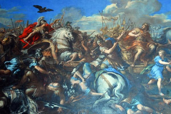 Battle of Alexander versus Darius by Pietro da Cortona, 1650, Sala dei Trionfi