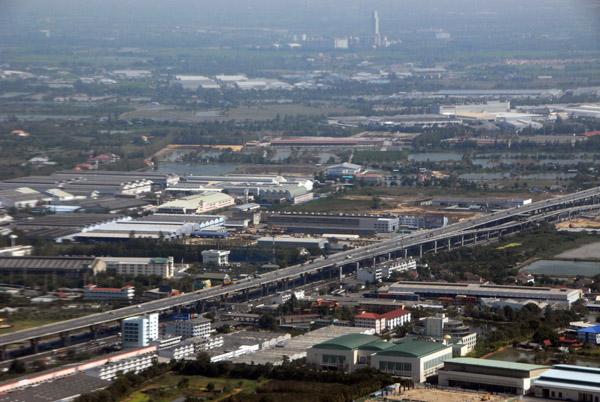 Elevated highway near Suvarnabhumi Airport, Bangkok, Thailand
