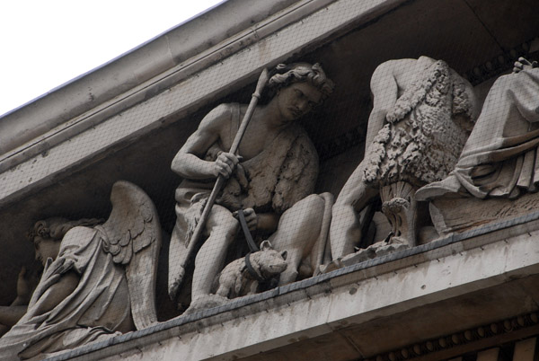 Detail of the Pediment of the British Museum The Progress of Civilisation by Sir Richard Westmacott