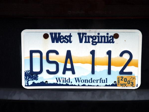 Wild, Wonderful West Virginia - license plate