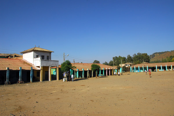 A large open square in the center of Axum