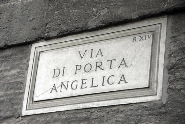 Via di Porta Angelica along the walls of Vatican City