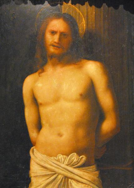 Cristo Alla Colonna - Scuola Lombarda, 16th C.