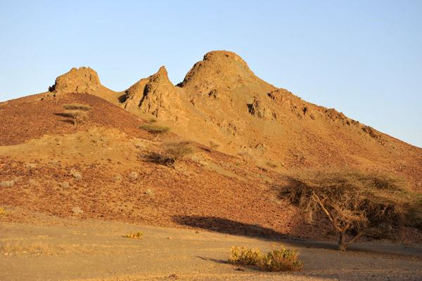Mountains along Oman Route 8 southwest of Sohar